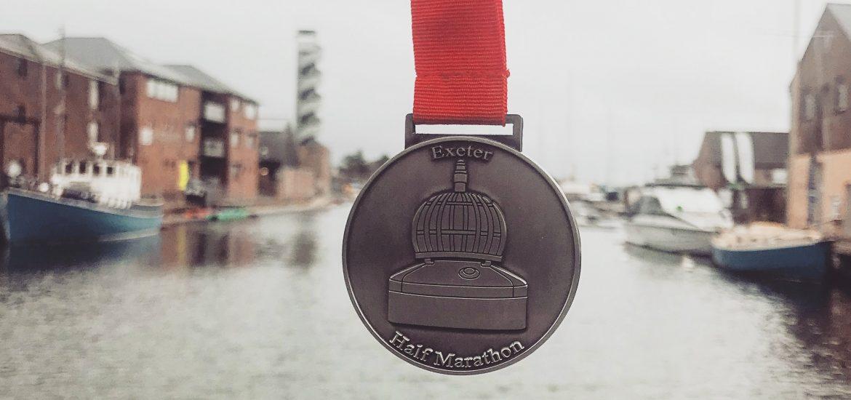 Exeter Half marathon 2018 Medal