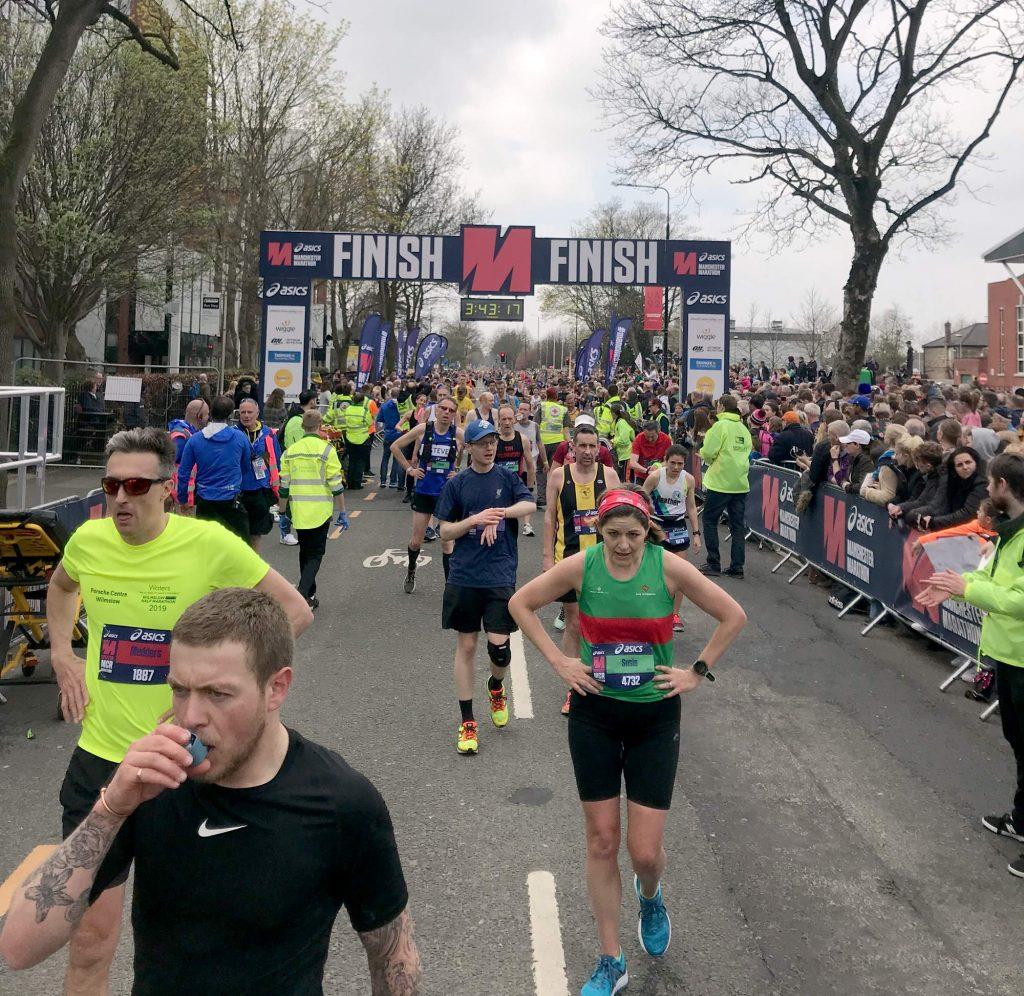 Manchester Marathon Finish